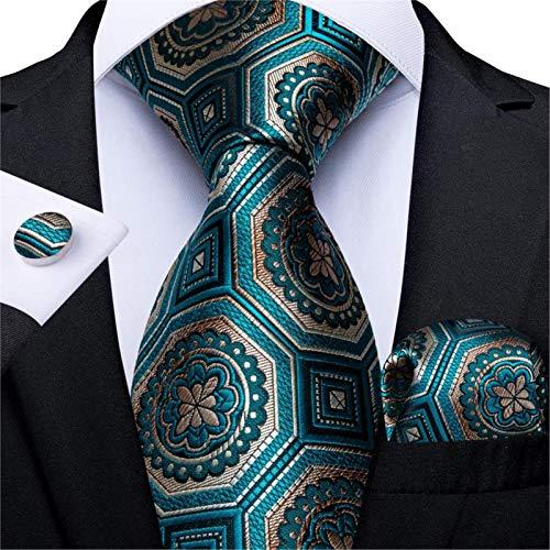 Pajarita para hombre de regalo para hombre, azul, verde, diseño novedoso, para hombre, para fiesta, negocios, moda, boda, para boda (color SJT 7300)