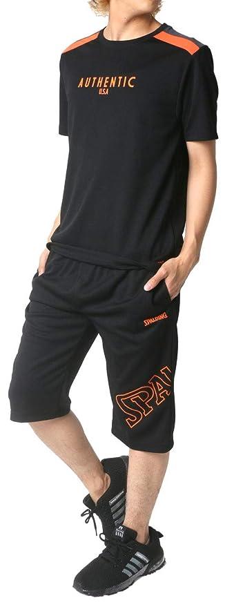 滝日の出不公平[スポルディング] ランニングウェア 上下セット ドライ Tシャツ ジャージ ボトム ショートパンツ メンズ
