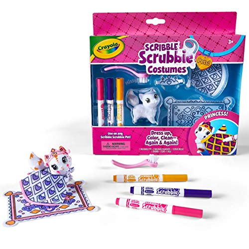 Crayola Scribble Scrubbie Princess Costume Playset, Toy for Kids, Gift