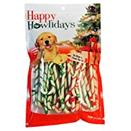 "Pet Factory 90005 5"" Rawhide Holiday Canes For Dogs With 2 Color Laces 30 Pack"
