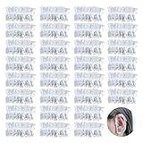 Orejeras impermeables transparentes Almohadillas desechables Orejeras desechables Orejeras impermeables Orejeras desechables de PE Accesorios para el cabello Protección para los oídos(200 piezas)