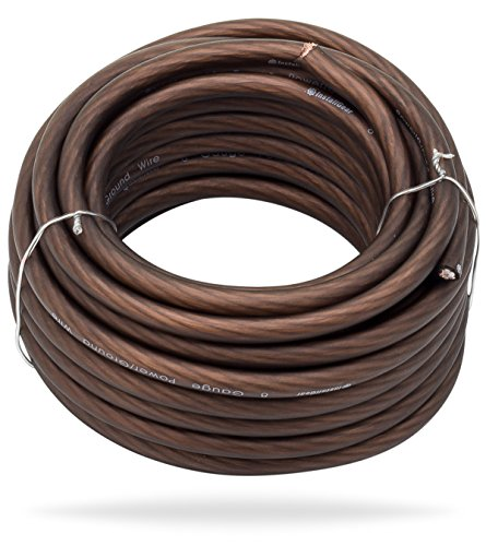 InstallGear 8 Gauge Black 25ft Power/Ground Wire True Spec and Soft Touch Cable
