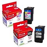 ご使用前に必ず取扱説明書をご確認ください BC-340XL / BC-341XL(大容量)ブラック/カラー 対応 ジット リサイクル インクカートリッジ キヤノン Canon セット C341CXL C340BXL ※純正品とは使用方法が異なります JIT-C340BXLS / JIT-C341CXLS