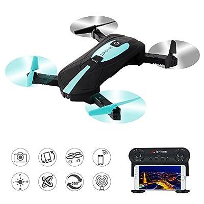 le-idea RC WIFI FPV 720P 2 MP HD Camera Quadcopter 2.4G Foldable Arm Mini Selfie Drone Toy with Foldable Remote and Foldable Mini Drone