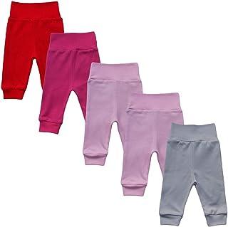 MEA BABY Unisex Baby Hose aus 100% Baumwolle im 5er Pack/Pumphose. Babyhose für Jungen Baby Hose für Mädchen, Schlupfhose