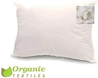 100% Organic Cotton Covered Wool Filled Pillow Standard/Classic Size