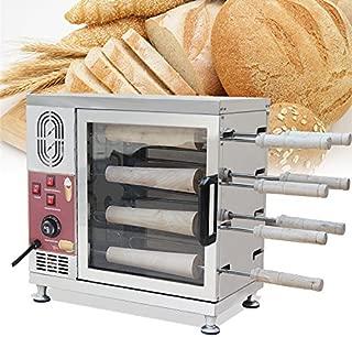 Pevor Stainless Steel 8 Roller Electric Ice Cream Cone Kurtos Kalacs Chimney Cake Roll maker oven Machine
