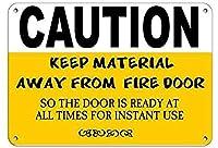 注意防火扉のセキュリティサイン壁錫サイン金属ポスターレトロプラーク警告サインヴィンテージ鉄の絵画の装飾オフィスの寝室のリビングルームクラブのための面白い吊り工芸品から材料を遠ざける