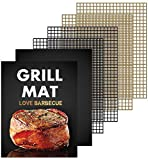 WODAHAN Grill mesh mat Set of 6-Non Stick BBQ Grill Cooking mat,Heavy Duty 600 Degree,Reusable,Easy to Clean,Works on Gas, Charcoal, Electric Grill and Smoker,15.75 x 13in