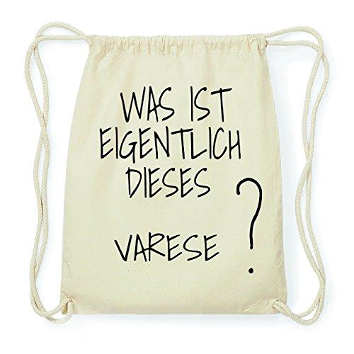 JOllify Varese Hipster Turnbeutel Tasche Rucksack aus Baumwolle - Farbe: Natur – Design: was ist eigentlich - Farbe: Natur