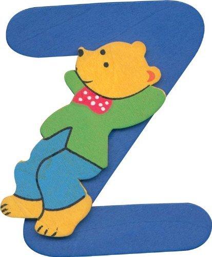 Alphabet Lettre Z en Bois avec design ourson