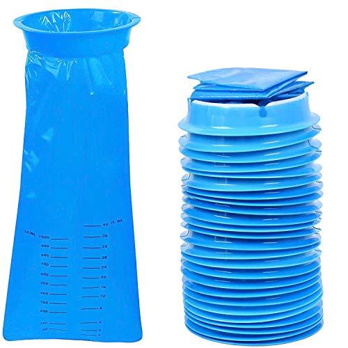 25 bolsas desechables para vómitos, bolsas azules de emesis