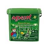 Fertilizzante per prato, con annichilitore di erbacce contro le erbe infestanti nel prato, ad alta resa, 5 kg, per 250 m²