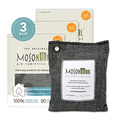 Purchase MOSO NATURAL: The Original Air Purifying Bag. for Cars, Closets, Bathrooms, Pet Areas. an U...