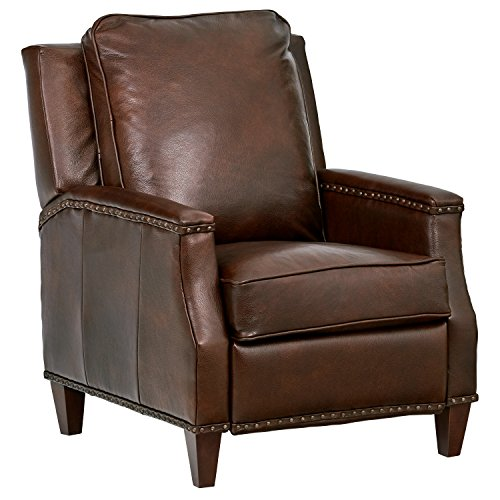 Amazon Brand – Stone & Beam Marin Leather Nailhead Studded Sofa Couch, 87'W, Saddle Brown