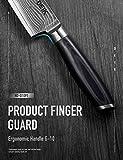 Deik Küchenmesser, Professionelle Damastmesser Kochmesser aus VG10 Edelstahl mit Scharfer Klinge und Ergonomischem Griff - 6