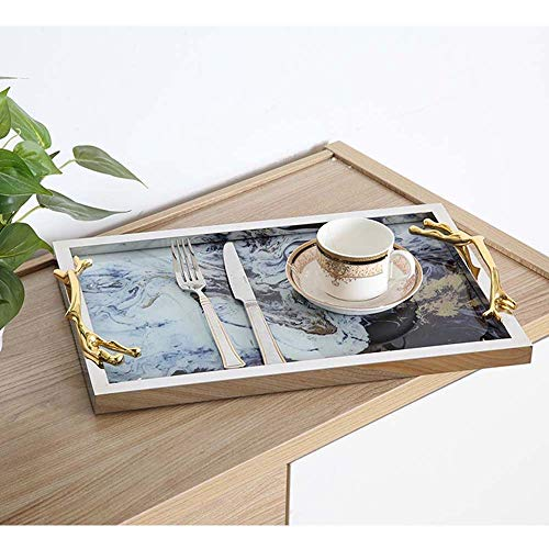 De enige goede kwaliteit Meubels Nordic Retro Stijl Glazen Lade Opslag Lade Koning Cloud Patroon Thee Lade 42 * 27cm Home Decoratie