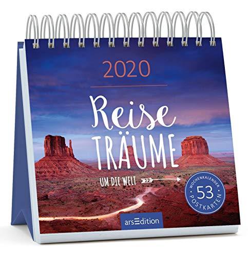 Postkartenkalender Reiseträume um die Welt 2020