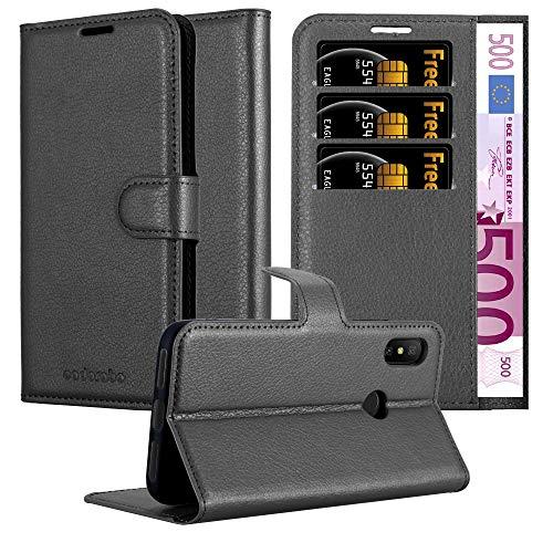 Cadorabo Funda Libro para Xiaomi Mi A2 Lite/RedMi 6 Pro en Negro Fantasma - Cubierta Proteccíon con Cierre Magnético, Tarjetero y Función de Suporte - Etui Case Cover Carcasa