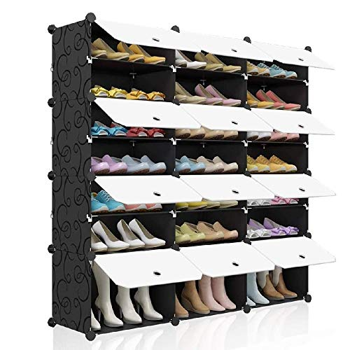 BEST&FAST 8 Tier Portable Shoe Rack Organizer 48 Pair, Multi-Purpose Durable Storage Cabinet Stand (MGGT-Shoe Rack)