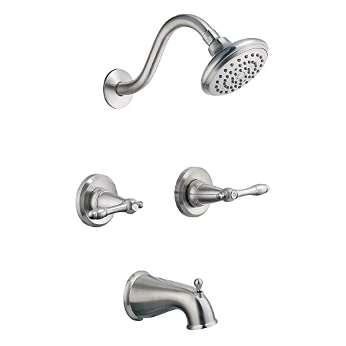 Double Handle Shower Faucet.Two Handle Bathtub And Shower Faucet Amazon Com