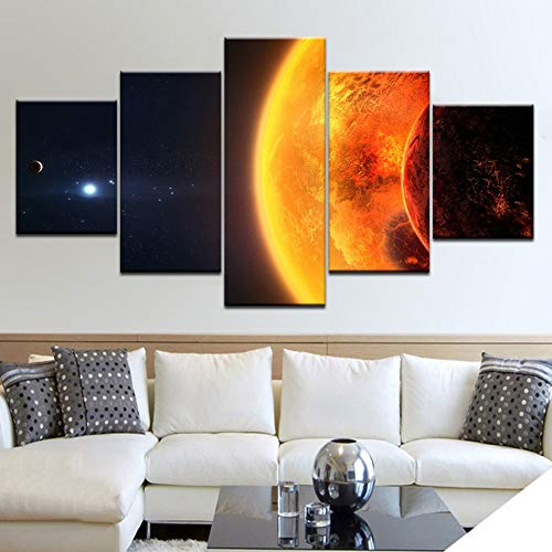 GHTAWXJ 5Panel / Stück Stern Wandplakate Drucken auf Leinwand Kunstmalerei Für die Dekoration des Wohnzimmers