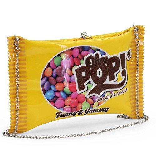Oh My Pop! Chococandy schoudertas, 34 cm, geel
