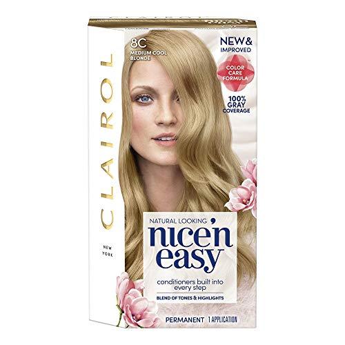 Clairol Nice'n Easy permanent hair color Medium cool Blonde 8C