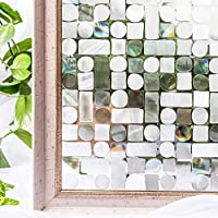 CottonColors 3D窓用フィルム 目隠しシート 何度でも貼り直せる 窓ガラスフィルム 遮熱 紫外線カット のりなし プライバシーガラスフィルム DIY 90x200cm [夢の間003]