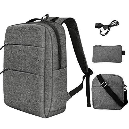PUREBOX Laptop Rucksack Herren Schulrucksack 17,3 Zoll Wasserdicht Business Rucksack Anti-Diebstahl Rucksack Tasche für Herren mit USB-Ladeanschluss und Kopfhörerschnittstelle,45L (Hellgrau 3 PCS)