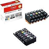 Canon インク カートリッジ 純正 BCI-326(BK/C/M/Y/GY)+BCI-325 6色マルチパック BCI-326+325/6MP + リサイクルインクカートリッジ6色セット