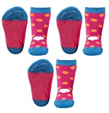 Ewers Baby- & Kindersocken 3er Pack, Stoppersocken SoftStep, Antirutschsohle für Mädchen Punkte/Herz, MADE IN EUROPE, Anti-Rutsch, ABS