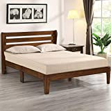 Olee Sleep Wood Platform Headboard Bed Frame, Full, Natural