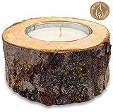 rustikale Outdoorkerze Gartenkerzen Kerze/ca. 12 Std. Brenndauer/der Kerzenständer aus Naturbelassenem Holz ist umweltfreundliches zu Recycling/Tischfeuer XXL Teelicht Kerze Outdoor