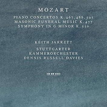 Mozart: Piano Concertos K. 467, 488, 595; Masonic Funeral Music, K. 477; Symphony In G Minor, K. 550