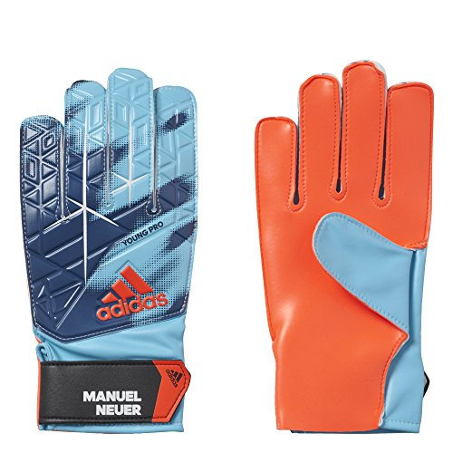 adidas Kinder ACE Manuel Neuer Torwarthandschuhe, Energy Blue/Solar Red/White/Black, 9.5