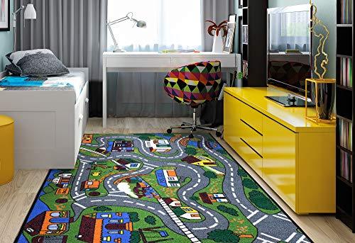 Ottomanson JNA370099-3X5 - Alfombra educativa, Multicolor