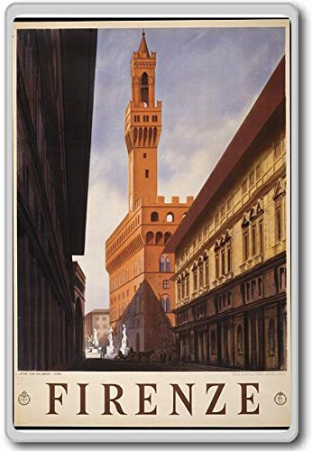 Firenze, Florence, Italy, Europe - Vintage Travel Fridge Magnet - Calamita da frigo