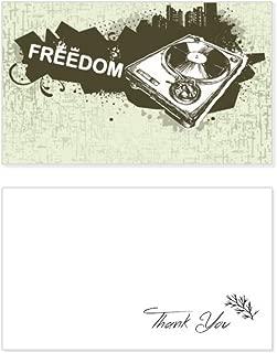 Graffiti Street Hip-Hop City Phonograph Thank You Card Birthday Wedding Business Message Set
