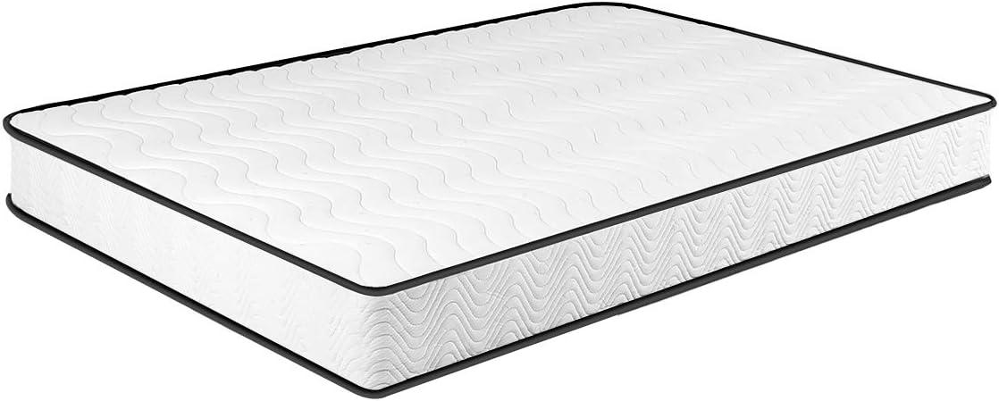 Matratze 90×200, 7-Zonen Federkernmatratze Memory Foam & Soft Gestrick H3, Optimale Unterstützung von Lenden- und Beckenbereich Classic Spring (90…