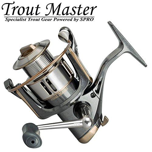 Trout Master Tactical Trout 2 - Forellenrolle zum Angeln auf Forellen, Stationärrolle zum Schleppangeln & Standangeln, Spinnrolle