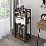 Natwind 3-Tier Movable Floor-Standing Printer Stand Shredder Stand Adjustable...