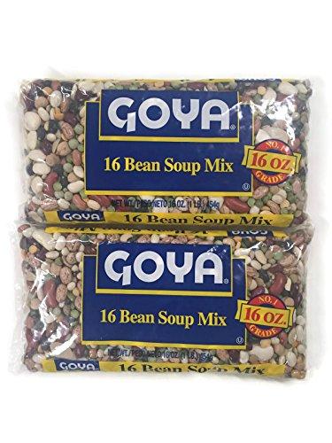 Goya Dried 16 Bean Soup Mix, 16 Oz. Bags (Set of 2)