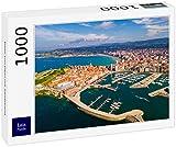 Lais Puzzle Costa de Gijón con Playa de Arena 1000 Piezas