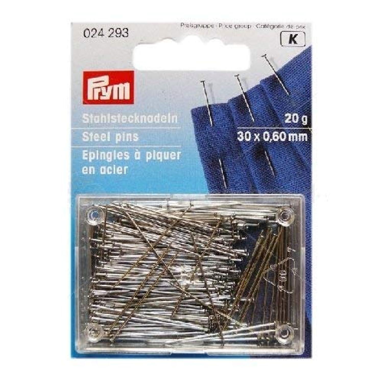 PRYM 024293 Straight pins No. 6 EF, 30x0,60mm 20g box