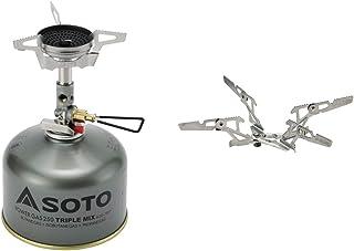 SOTO マイクロレギュレーターストーブウインドマスター SOD-310 & ゴトク フォーフレックス SOD-460 & パワーガス250トリプルミックス SOD-725T 新富士バーナー OD缶 バーナー ソロ キャンプ ハイキング ツーリング
