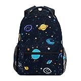 Universo Planeta Galaxia Mochila de Estudiantes Hombro Mochilas para Viajes Escolar Niños Niñas