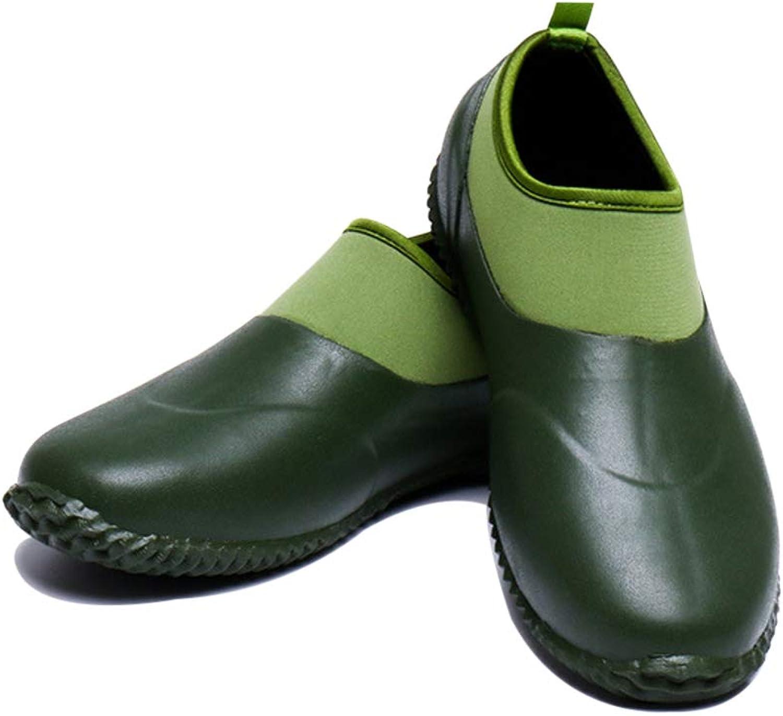ViveMay Men's Garden shoes Waterproof Women's Rain Boots Car Wash Footwear Outdoor Slip On Rubber Rainshoes