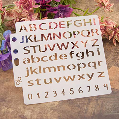 Yiwann DIY sjablonen sjabloon, brieven sjablonen sjabloon schilderen Scrapbooking embossing stempelen album kaart cadeau