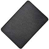 Hulless 11 x 7 inch Super Sticky Car Dashboard Anti Slip Mat Magic Anti Slip Mat Car Dashboard Sticky Pad Adhesive Mat for Cell Phone, CD, Electronic Devices, Keys, Sunglasses, etc, 4 Pcs.